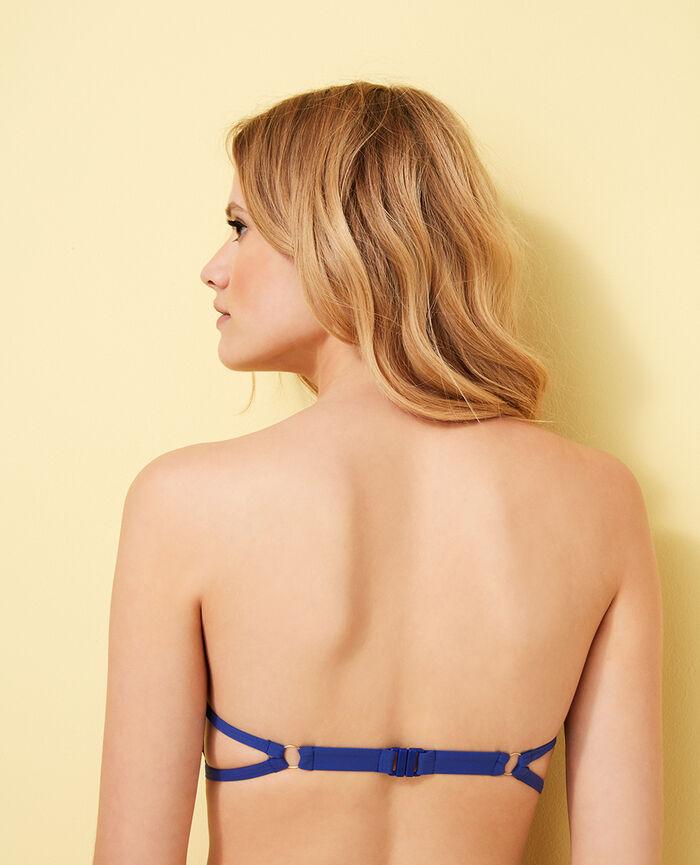 Gepolstertes Bandeau-Bikini-Oberteil ohne Bügel Mascarablau NUMA