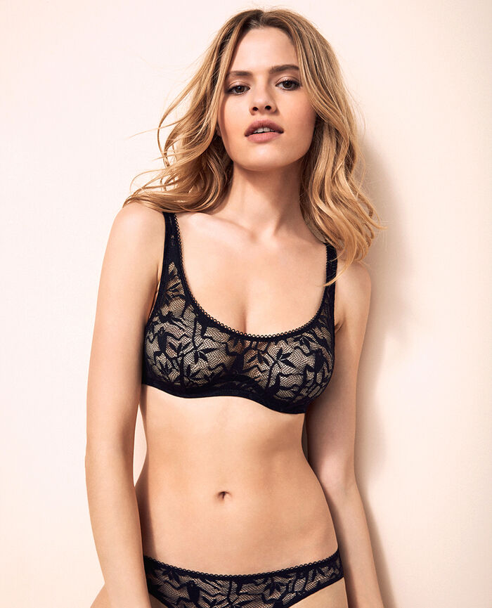 Demi-balconette bra Black Monkeys