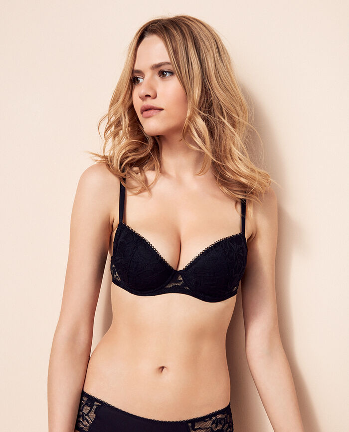 Padded push-up bra Black Monkeys