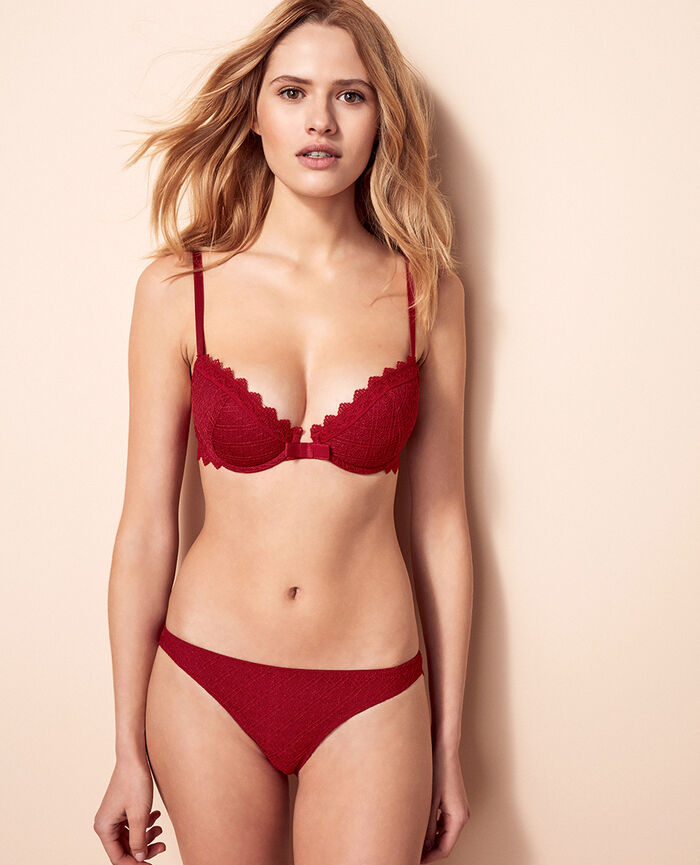Padded push-up bra Goji red Insolente