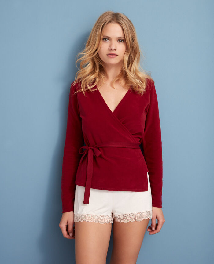Wrap-around top Leather red Igloo