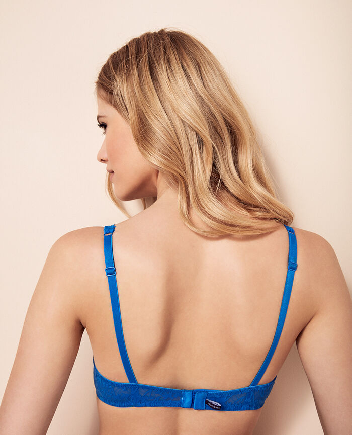 Soutien-gorge triangle avec armatures Bleu samba Bella