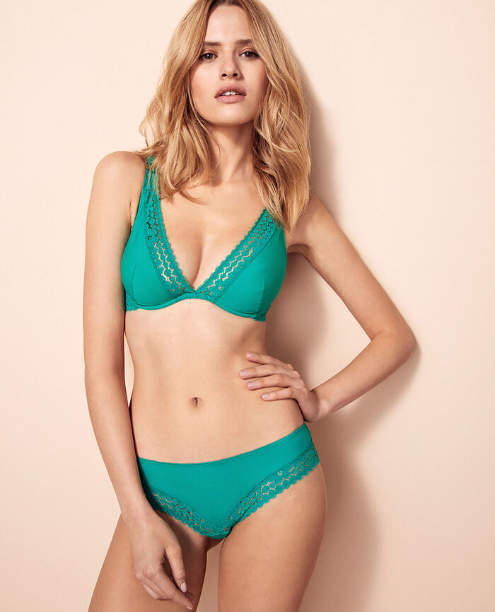 Underwired triangle bra Palmito green Monica