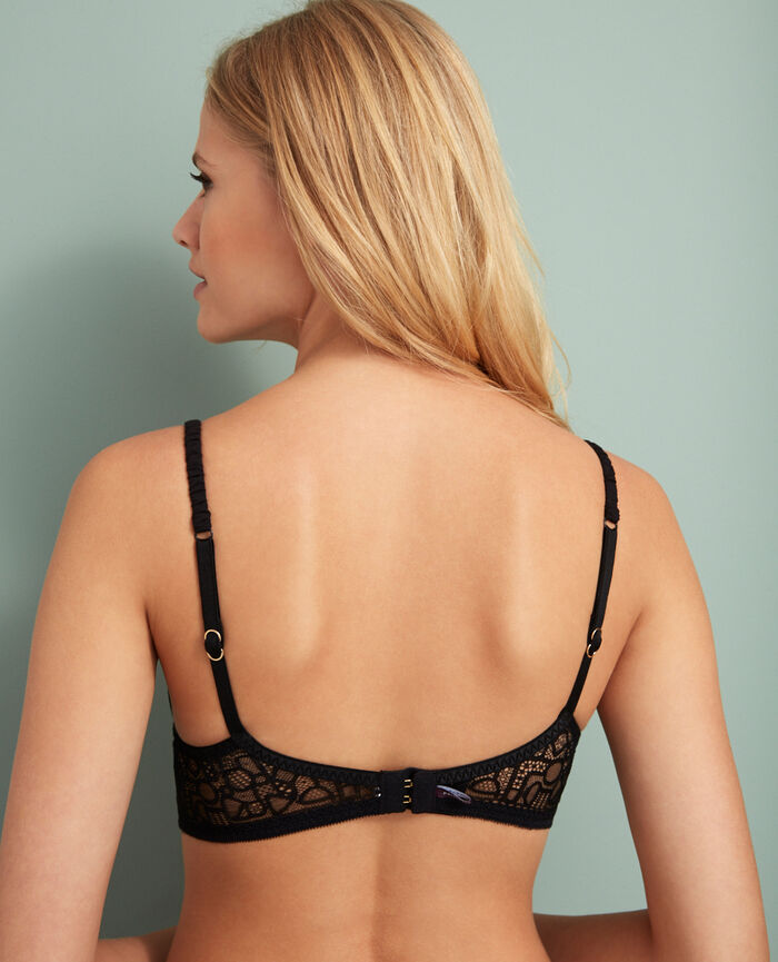 Padded push-up bra Black Manhattan