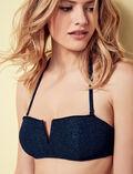Padded strapless bikini top Heroine blue Movie