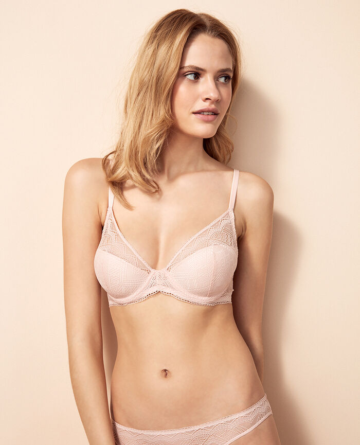 Soutien-gorge triangle mousses Rose lytchee Passion