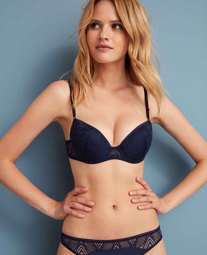 Soutien-gorge push-up mousses Bleu manhattan Boheme