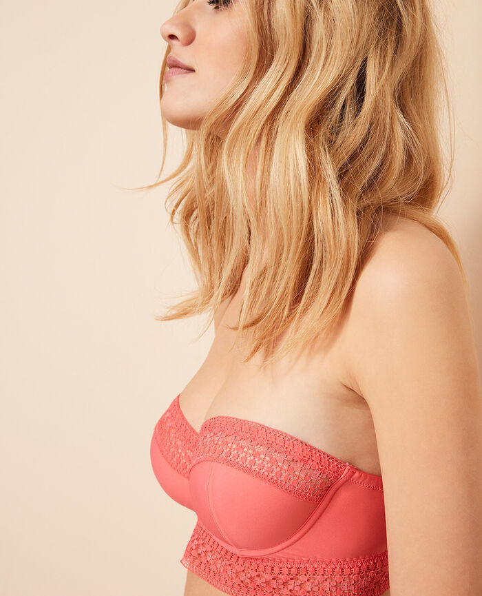 Wired bandeau long-line bra Funky pink Freedom