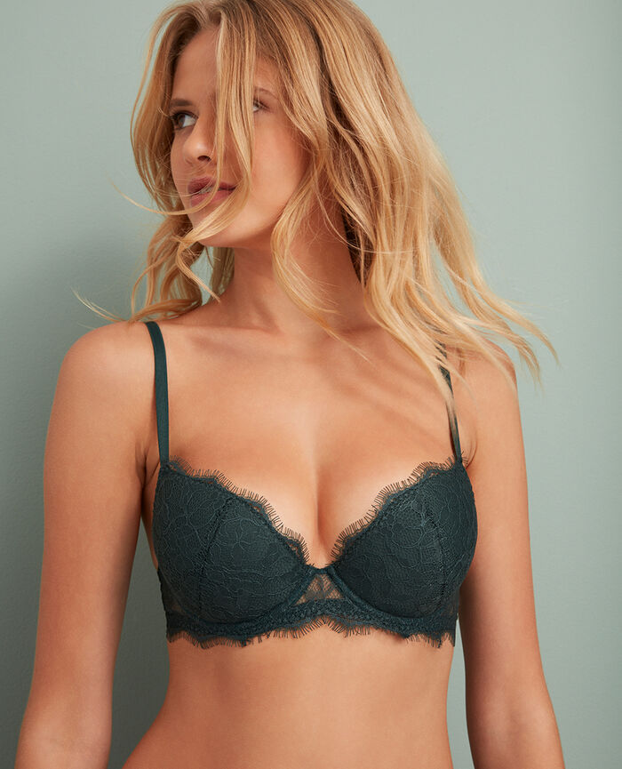 Padded push-up bra Story green Taylor