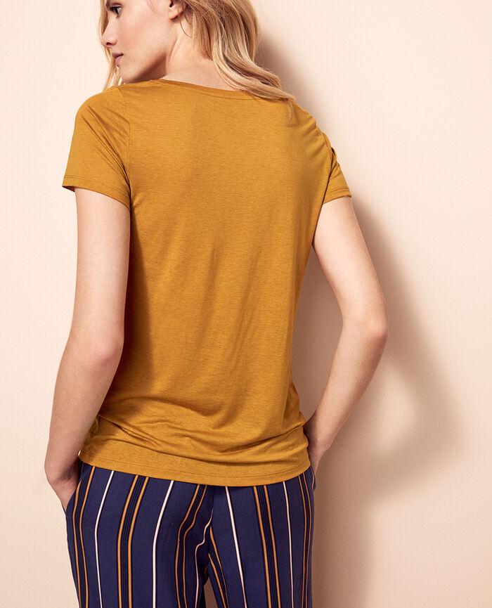Kurzärmliges T-Shirt Kurkumabraun LATTE