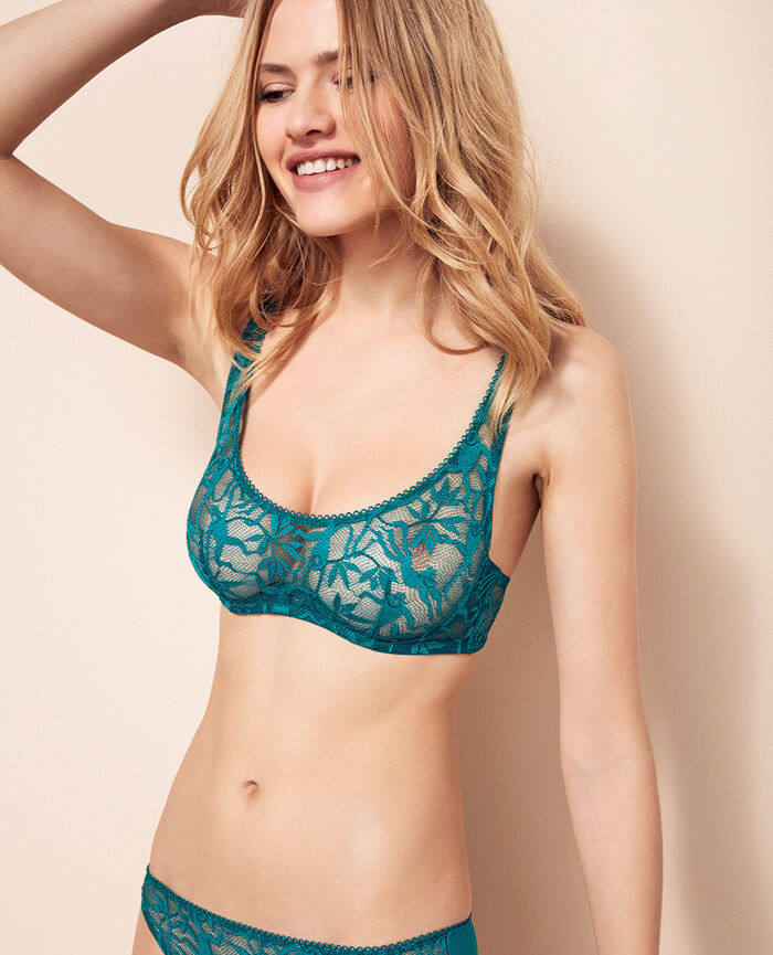 Demi-balconette bra Pigment green Monkeys