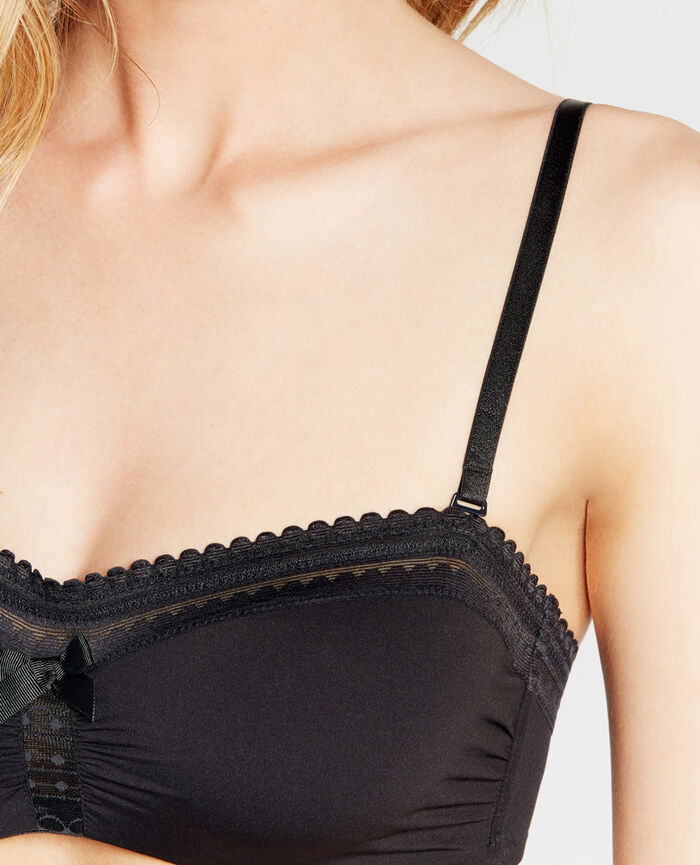 Strapless bra Black Beaute