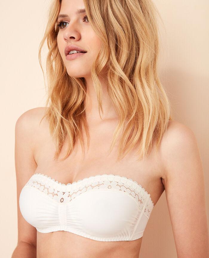 MONICA Rose white Strapless bra
