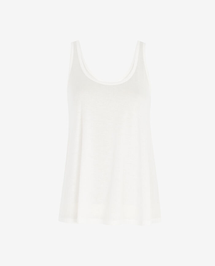 T-shirt sans manches Ivoire Latte