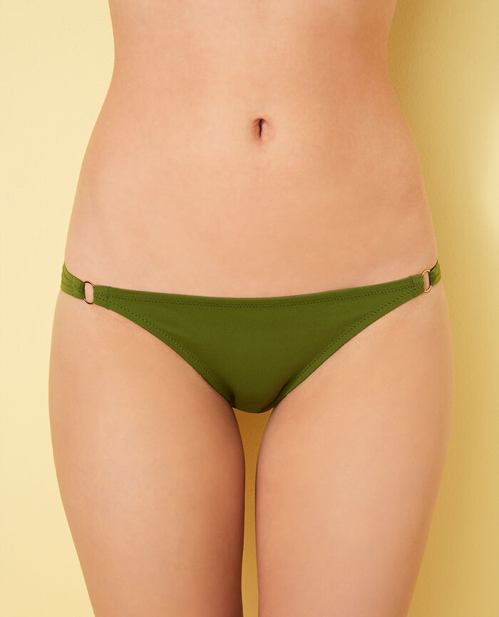 High-cut bikini briefs Philo green Numa