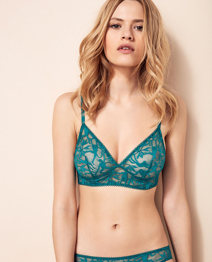 Soft cup bra Pigment green Monkeys