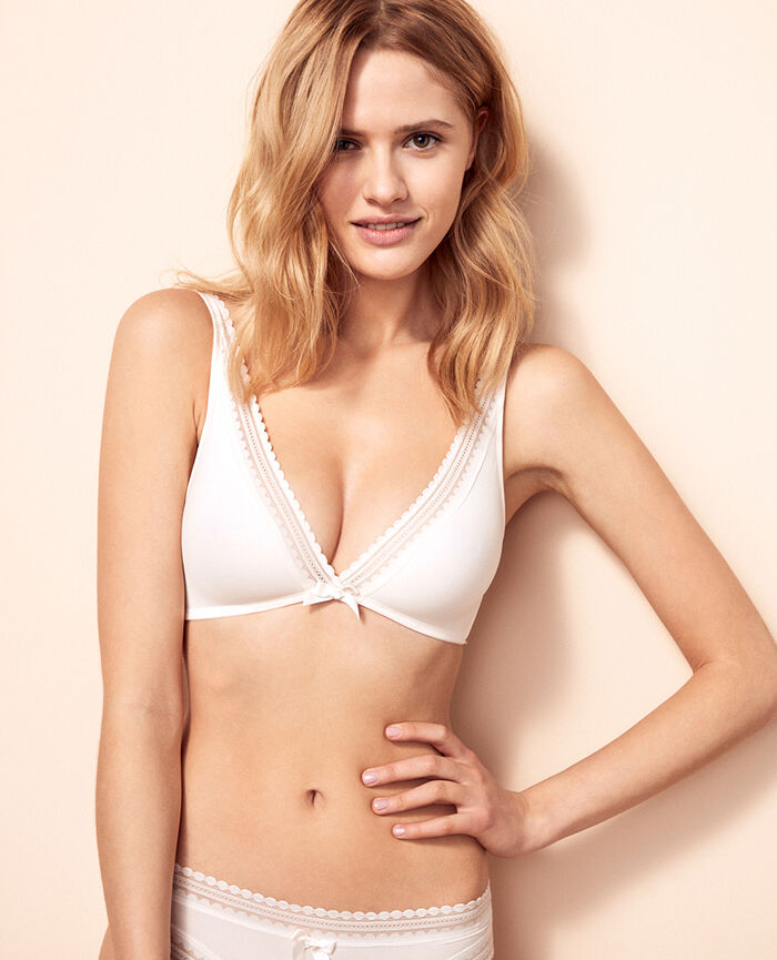 Soft cup bra Rose white Beaute