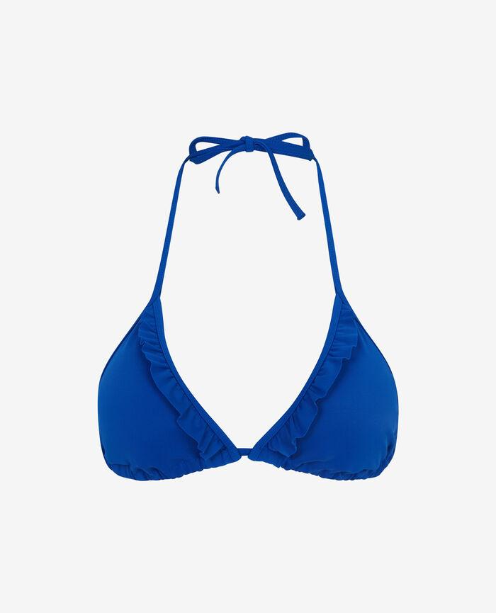 Padded triangle bikini top Mascara blue Princesse tam.tam x uniqlo