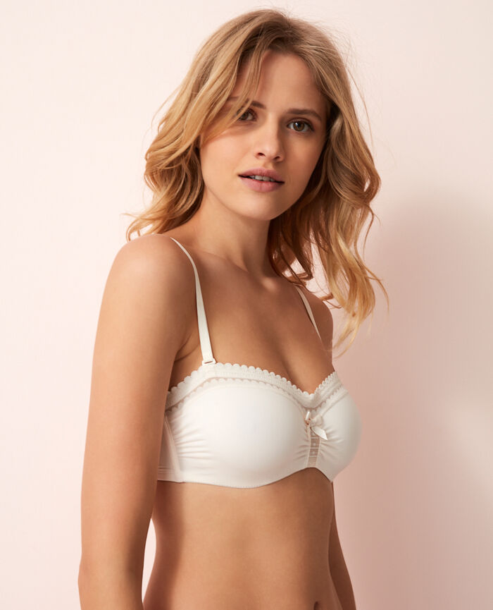 Strapless bra Rose white Beaute