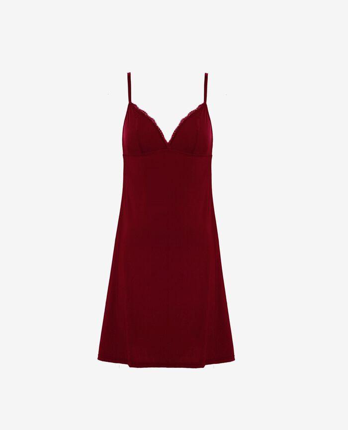 Slip dress Leather red Take away