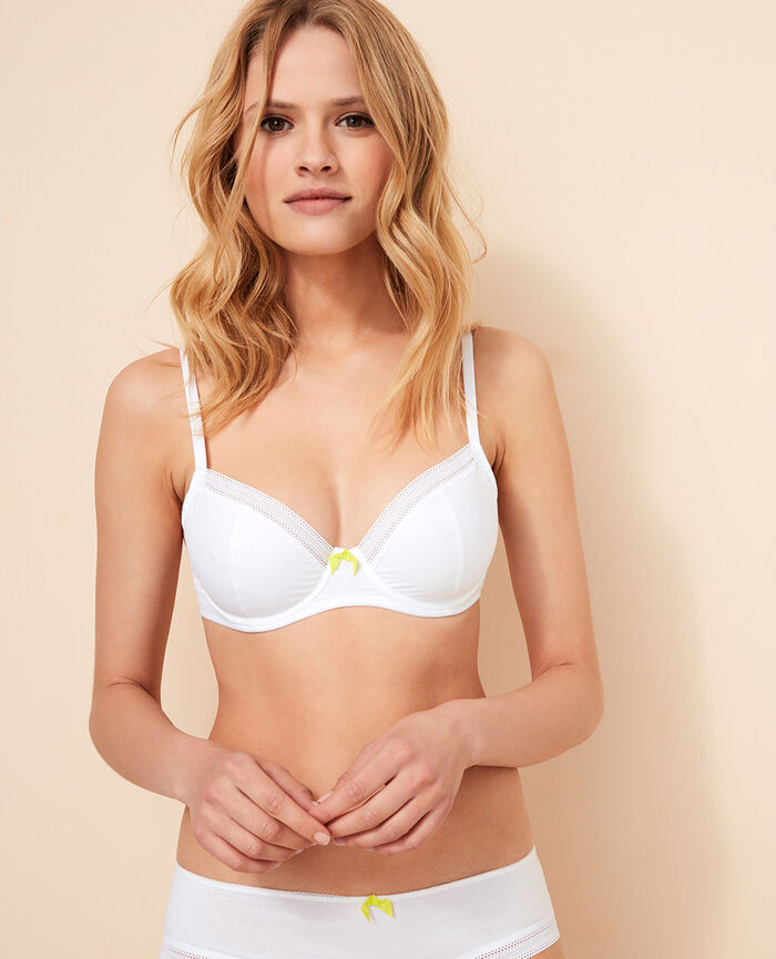 Underwired bra White Coton