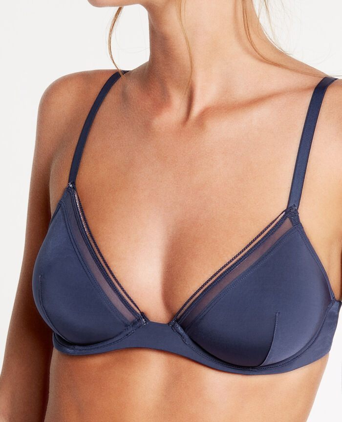 MAKE UP Bleu marine Soutien-gorge triangle mini-wire