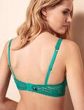 Soutien-gorge triangle avec armatures Vert palmito Monica