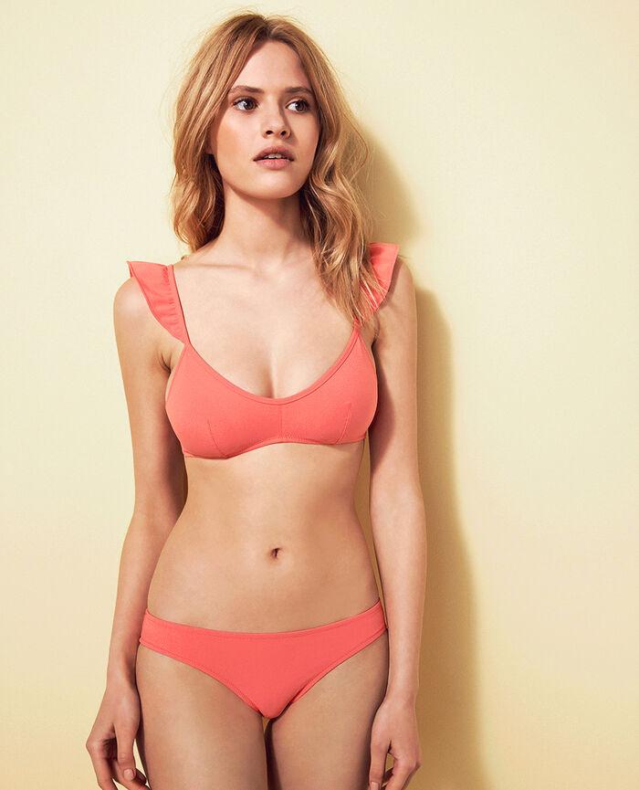 Padded triangle bikini top Funky pink Soa