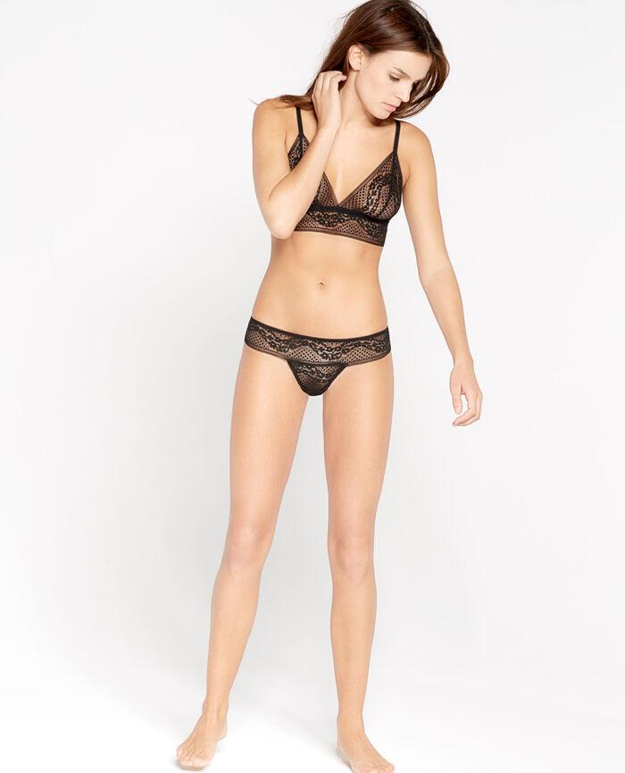 VERTIGE Noir Culotte taille basse