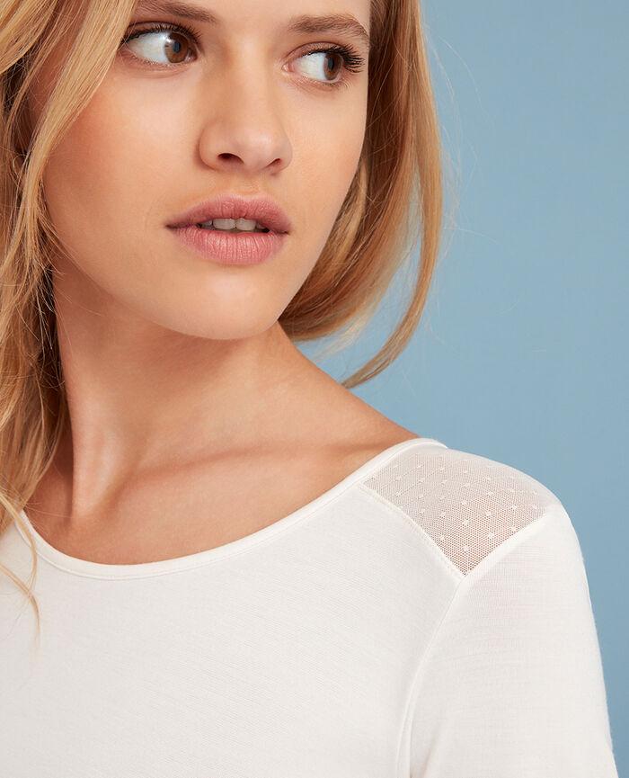 Langärmliges T-Shirt Weiß rosé INNERWEAR