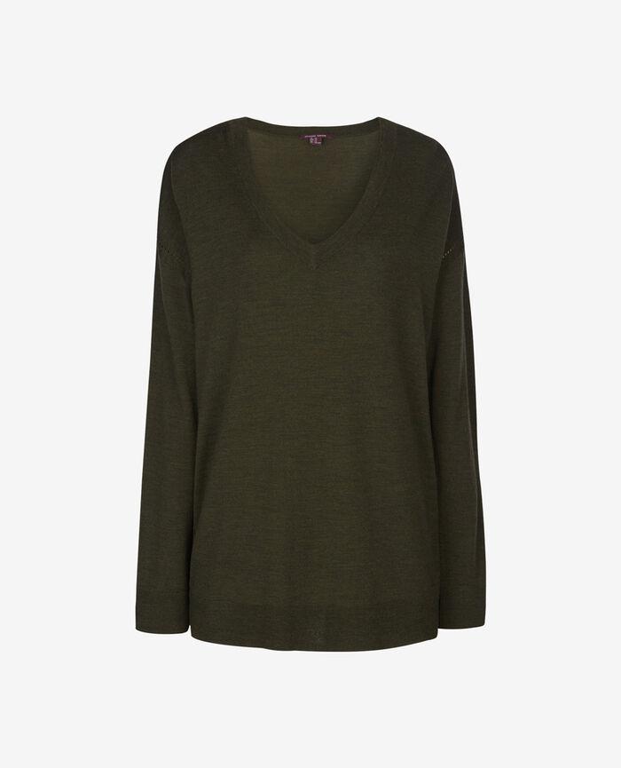 EXTRA Army green V-neck jumper