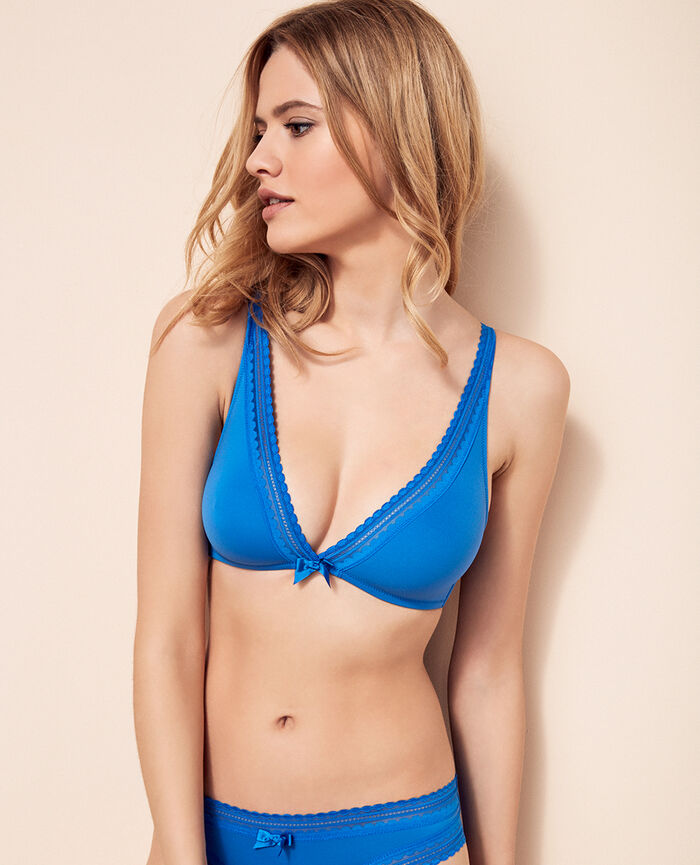 Soft cup bra Samba blue Beaute