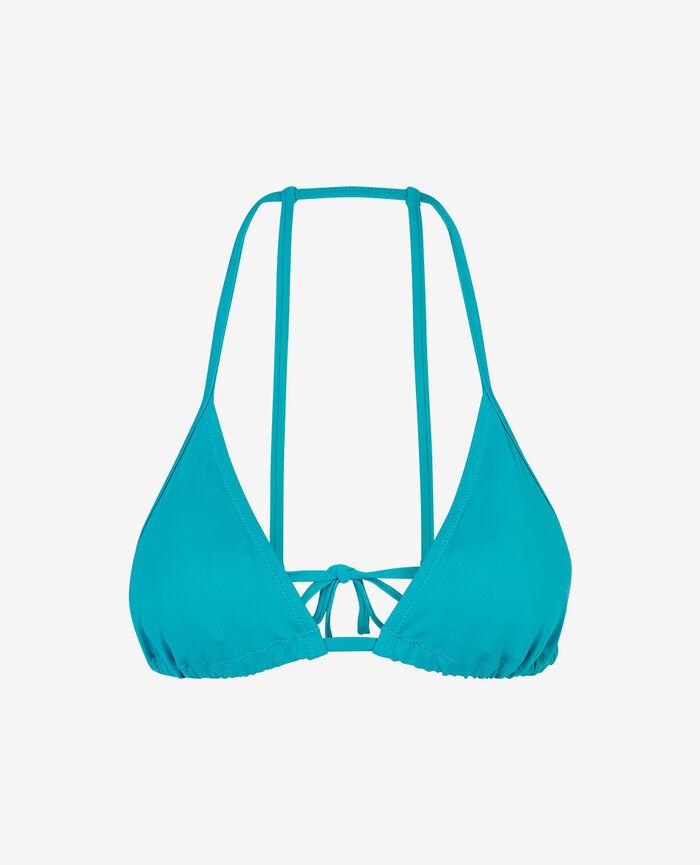 Gepolstertes Triangel-Bikini-Oberteil Rosa Streifen PRINCESSE TAM.TAM x UNIQLO