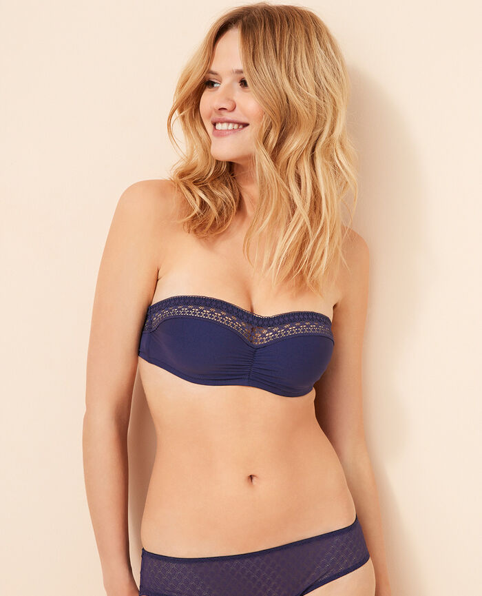 Strapless bra Denim blue Freedom