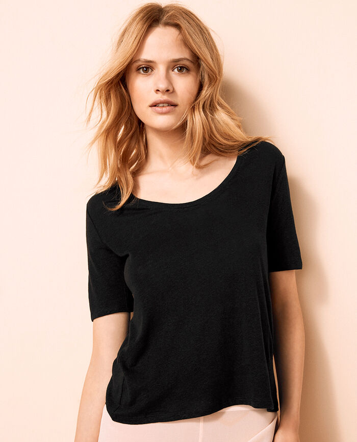 Short-sleeved t-shirt Black Ideal