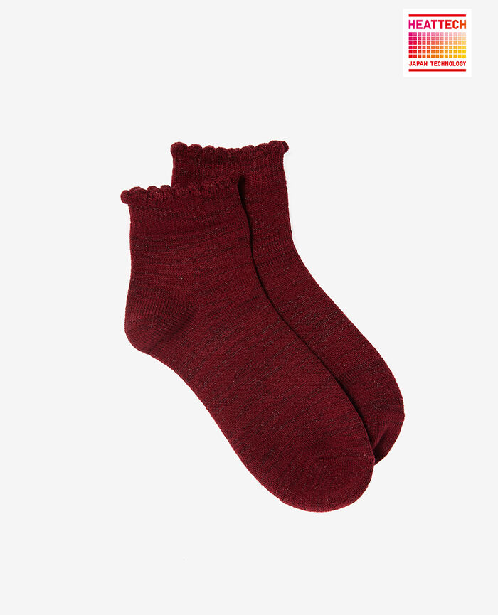 Chaussettes Rouge cuir Sparkle