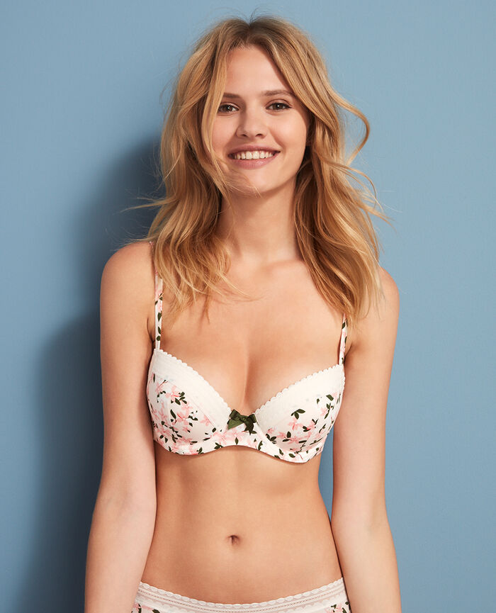 Progressive-cup push-up bra Floral Beaute