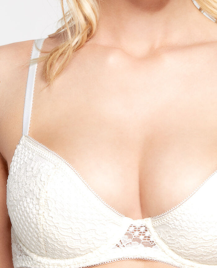 VERTIGE Cream white Padded push-up bra