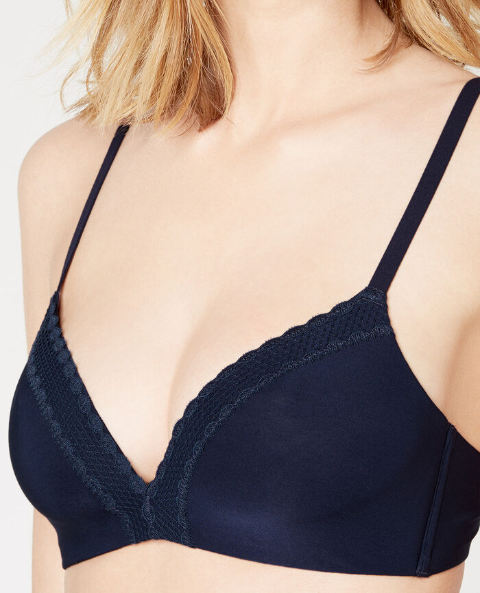 AIR LINGERIE Storm blue Spacer soft-cup bra