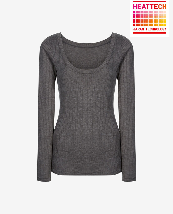 INFINITY Gris chiné T-shirt manches longues