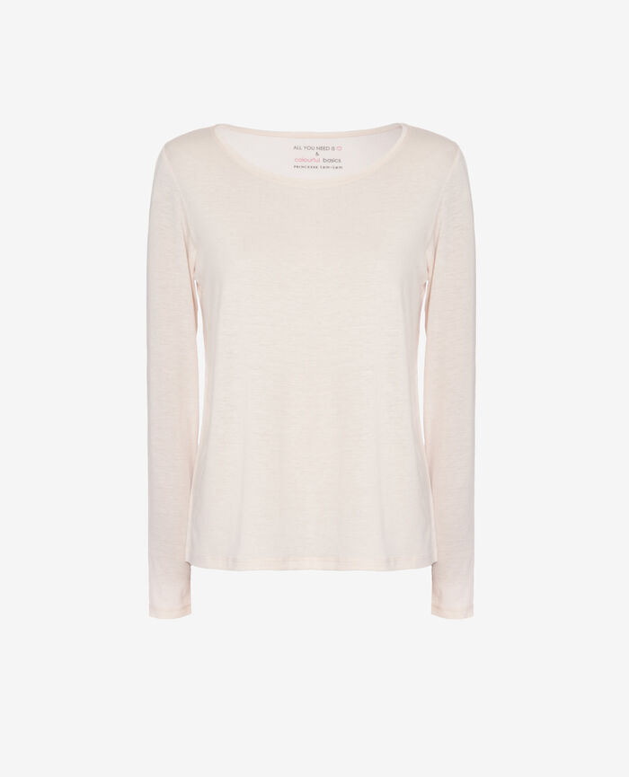 Long-sleeved t-shirt Ice cream rose Latte