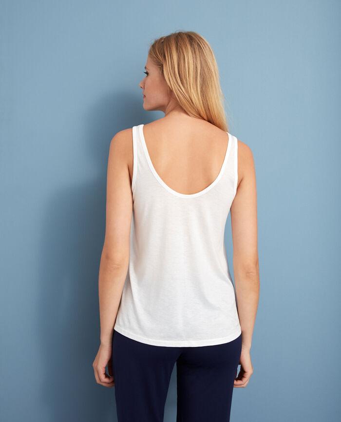 Ärmelloses T-Shirt Elfenbeinfarben LATTE