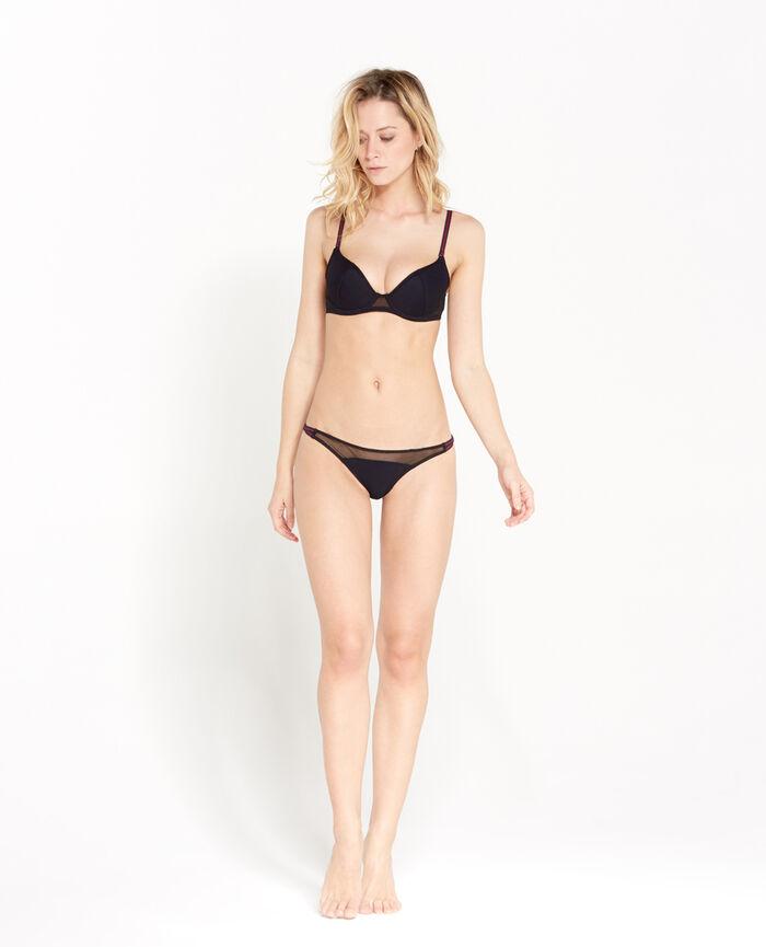 CONTROL Black Padded push-up bra
