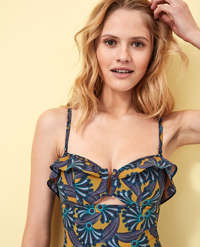 Bustier swimsuit Multicolour Wax