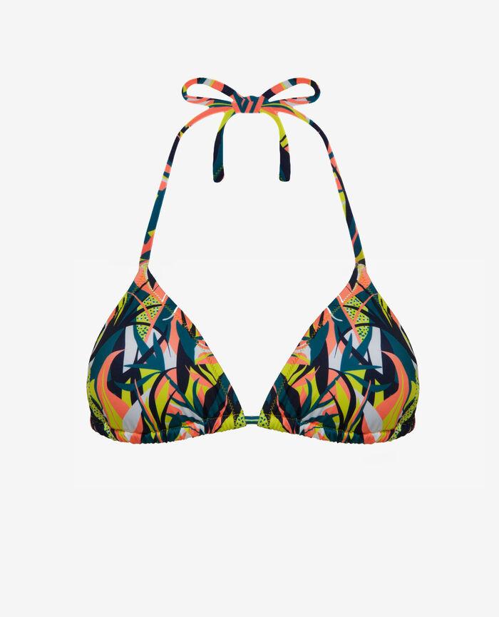 Gepolstertes Triangel-Bikini-Oberteil Bunt MIX