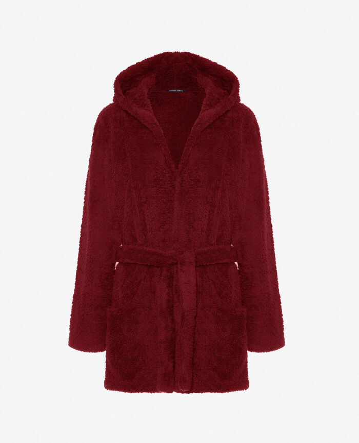 Bathrobe Leather red Eskimo
