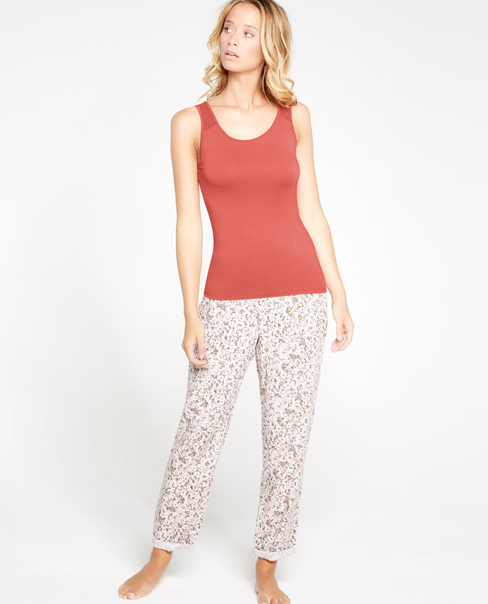 INNERWEAR Rose cuit T-shirt sans manches