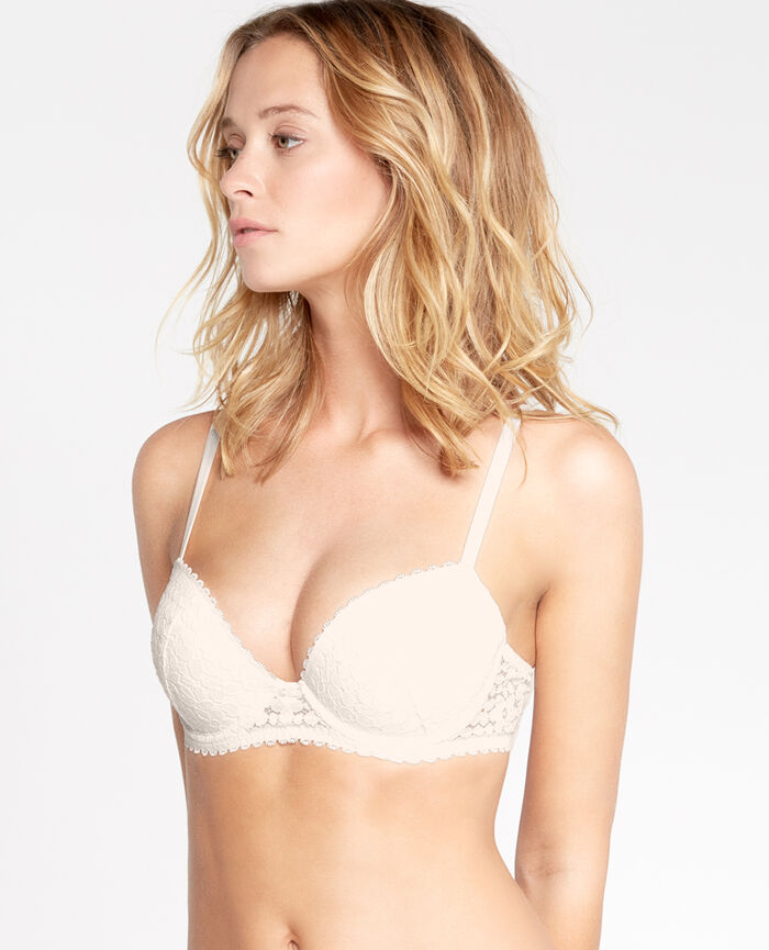 Progressive-cup push-up bra Rose white Monica