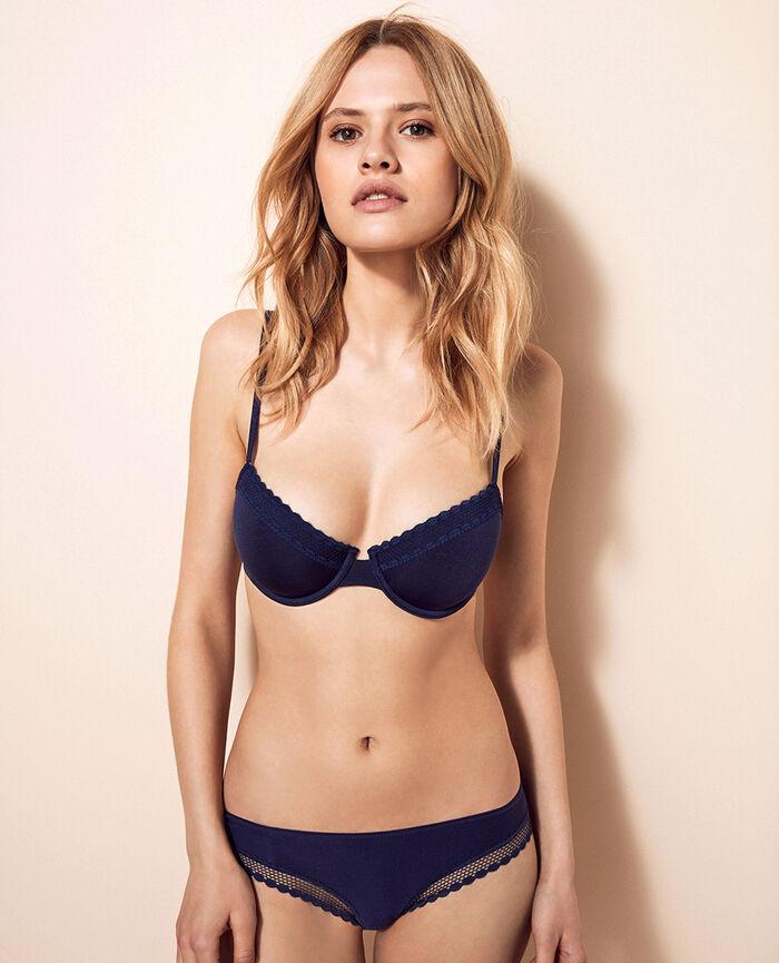 Half-cup bra Storm blue Air lingerie