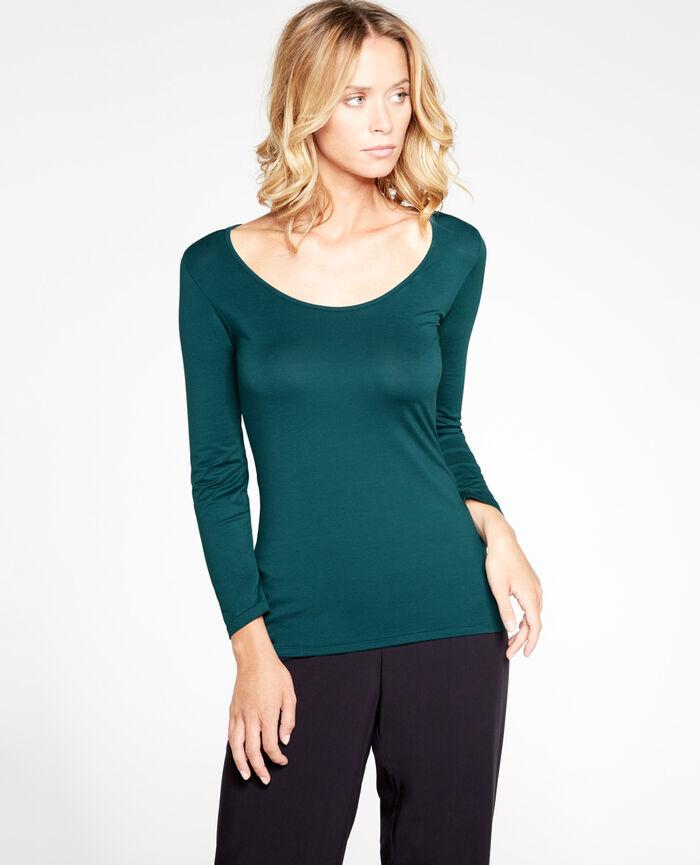 INNERWEAR Midnight green 7/8 sleeved top
